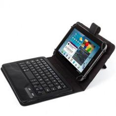 Husa tableta Kit Husa piele pentru tablete de 7-8 inch, Negru
