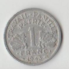 Moneda 1 franc 1943 - Franta, Europa
