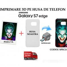 HUSA PERSONALIZATA SAMSUNG GALAXY S7 EDGE CU POZA TA - MODEL JOKER - Husa Telefon, Alb, Plastic, Carcasa