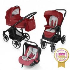 Carucior 3 in 1 Baby Design Lupo Comfort Dark Red - Carucior copii 3 in 1