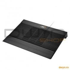 """Deepcool N8 Mini Black, structura din aluminiu si plastic, dimensiune notebook: 15.6"""" (maxim), 140mm"""