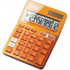 Calculator birou Canon LS123KOR portocaliu, 12 digiti, ribbon, display LCD, functie business, tax si