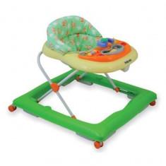 Premergator copii cu roti din silicon Baby Mix BG-1601 Green Cream