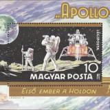 Ungaria 1969 cosmos Apollo 11 - colita nestampilata MNH - Timbre straine