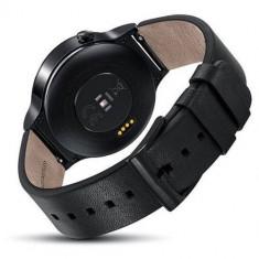 Huawei Watch W1, negru metalic, bratara piele neagra (Black Leather Strap) - Smartwatch