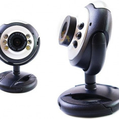 Camera web 4World 2.0MP USB 2.0 iluminata cu LED + microfon, universala - Webcam