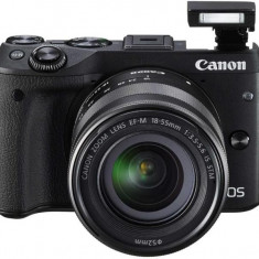 Kit aparat foto digital Canon EOS M3 (cu obiectiv de 18-55 S) - DSLR Canon