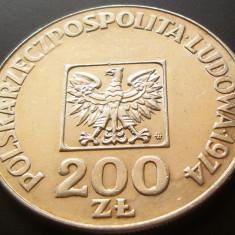 MONEDA ARGINT 200 Zloti - POLONIA, anul 1974 *cjaCOD 04 UNC, Europa, An: 1873