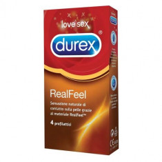 4 Buc. Durex Real Feel (fara latex) - Prezervative