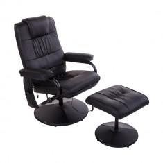 Fotoliu de masaj cu sistem de incalzire si scaun pentru picioare - Scaun masaj