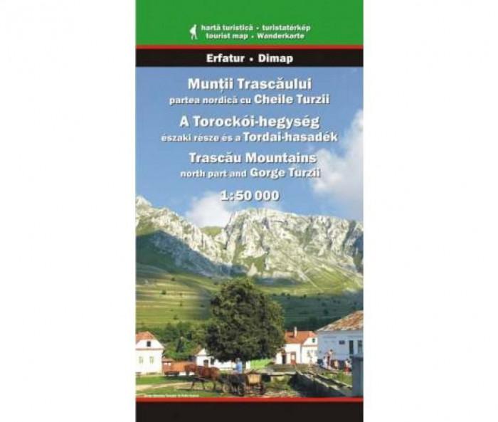Dimap Harta Turistica Muntii Trascaului Nord cu Cheile Turzii