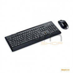 Fujitsu Wireless KB Mouse Set LX390 US black - Tastatura