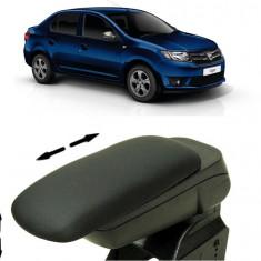 Cotiera Reglabila x2 din Piele Ecologica Dacia Logan 2012-2017 - Ornamente interioare auto