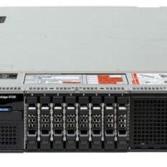 Server DELL PowerEdge R720, Rackabil 2U, 2 Procesoare Intel Octa Core Xeon E5-2670 2.6 GHz, 32 GB DDR3 ECC Reg, 4 x 1 TB HDD SATA NOU, DVD-ROM, Raid