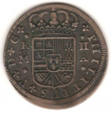 SV  *  Spania  2  REALES  1723   Regele Phillip     XF !!!