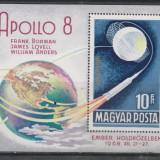Ungaria 1969 cosmos Apollo 8 - colita nestampilata MNH - Timbre straine