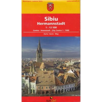 SunCart Harta Turistica si Rutiera a Judetului / Orasului Sibiu foto