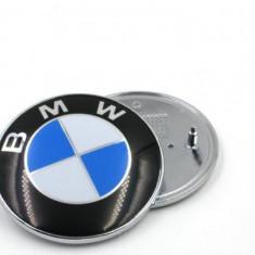 Emblema / Logo / Sigla BMW Cu 2 Pini - 74mm Pentru Seria 3, 5, 7 si X - Embleme auto