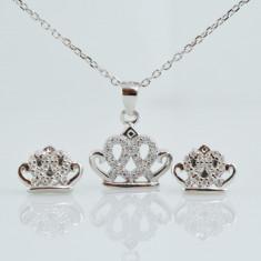 Set din argint cu zirconiu cubic Coroana