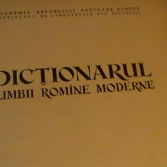DICTIONARUL LIMBII ROMAMNE MODERNE - Dictionar ilustrat