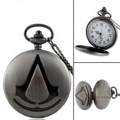 Ceas De Buzunar Classic / Vintage Design - Assassin's Creed -  Gri