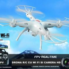 LICHIDARE STOC! DRONA PROFESIONALA 30CM CU CAMERA VIDEO HD SI TRANSMISIE WI FI.