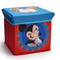 Taburet si cutie depozitare jucarii Mickey Mouse Clubhouse - Sistem depozitare jucarii, Multicolor