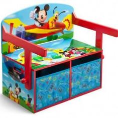 Mobilier 2 in 1 pentru depozitare jucarii Disney Mickey Mouse - Set mobila copii