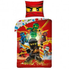 Lenjerie de pat LEGO Ninjago - Rosu - Lenjerie pat copii
