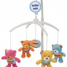 Carusel muzical Bears Gang - Carusel patut Baby Mix, Multicolor