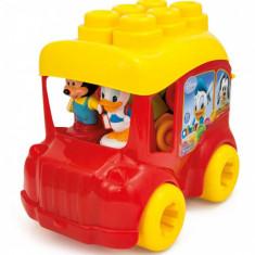 Clemmy - Autobuz Mickey Cu Cuburi - Set de constructie