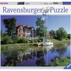 Puzzle Ravensburger CANALUL GOTA, SUEDIA 1000 piese