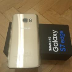 Samsung Galaxy S7 Edge 32GB factura si garantie - Telefon Samsung, Auriu, Neblocat, Single SIM