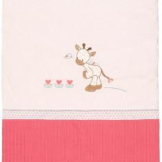 Paturica pentru copii Girafa Charlotte - Lenjerie pat copii Nattou, Roz