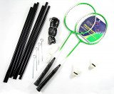 Set Badminton cu Fileu, 2 Rachete si 2 Fluturasi - Nou