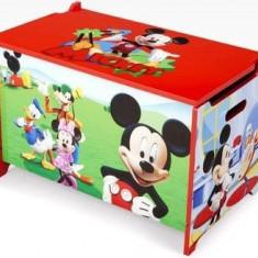 Ladita din lemn pentru depozitare jucarii Disney Mickey Mouse - Sistem depozitare jucarii, Multicolor