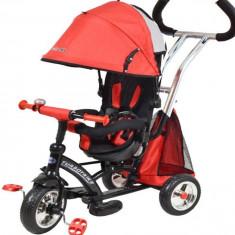 Tricicleta cu sezut reversibil Sunrise Turbo Trike Red - Tricicleta copii Baby Mix, Rosu