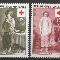 Franta 1956 - Timbre straine, Nestampilat