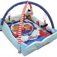 Saltea de joaca cu protectii laterale Sailor Babies - Tarc de joaca Baby Mix, Multicolor