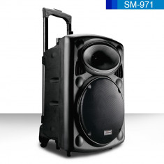 LICHIDARE STOC!BOXA ACTIVA TIP TROLER,BASS 12 INCH,MP3 PLAYER,BLUETOOTH,MICROFON