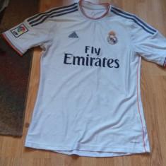 Tricou original real madrid - Tricou barbati Adidas, Marime: M/L, Culoare: Alb