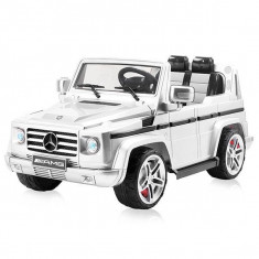 Masinuta electrica Chipolino SUV Mercedes Benz G55 White - Masinuta electrica copii