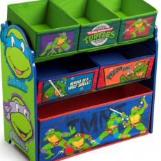 Organizator jucarii cu cadru din lemn Testoasele Ninja - Set mobila copii