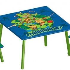 Set masuta si 2 scaunele Testoasele Ninja - Set mobila copii