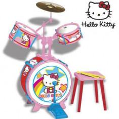 Set tobe si baterie - Hello Kitty - Instrumente muzicale copii Reig Musicales