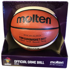 Minge baschet Molten GM7X-E7T Replica EuroBasket 2017, cutie editie speciala!, Marime: 7