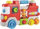 Jucarie interactiva Camion de pompieri, Plastic, Baby Mix