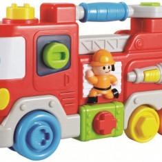 Jucarie interactiva Camion de pompieri - Masinuta Baby Mix, Plastic