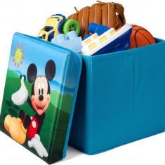 Taburet si cutie depozitare jucarii Disney Mickey Mouse - Sistem depozitare jucarii, Albastru