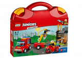 LEGO Juniors - Valiza Patrula de pompieri 10740